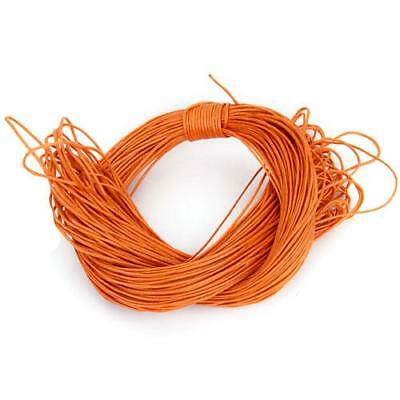 44 Meters Orange Waxed Cotton Cord Twine 1mm ROUND for Bracelet Necklace DIY