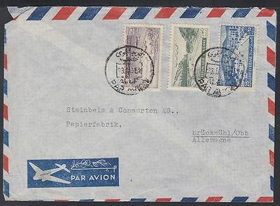 1961 Syrien Syria Cover Aleppo to Germany, mixed franking [ca763]