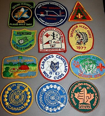 Lot Of Boy Scouts Of Canada Patches/badges-East Quinte Region  #2