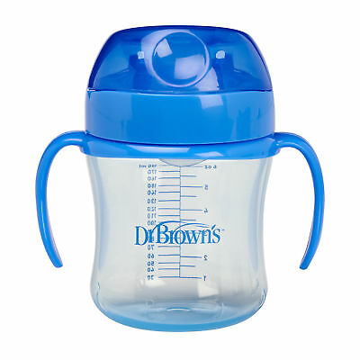 Dr Brown's Options New Improved Baby Non-Spill Hard/ Soft Spout Kids Trainer Cup