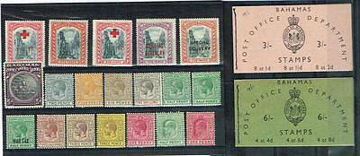 Bahamas - Small Selection Of Nice Mint Stamps And Two Complete Booklets
