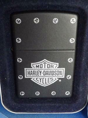 Zippo Harley Davidson Lighter Motorcycles Stud Logo New 2005 Collector Tin