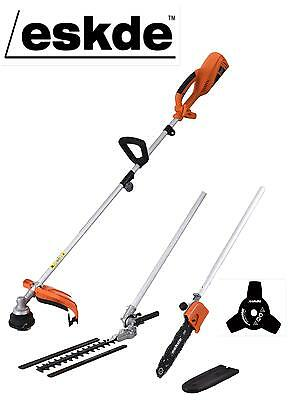 eSkde Electric Multi Tool 1200w Brush Cutter Strimmer Chainsaw Hedge Trimmer