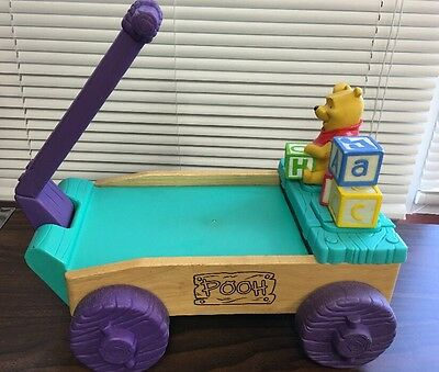 Musical Winnie The Pooh Toy Wooden Wagon