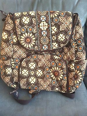 16a064cba86d NEW RETIRED RARE Vera Bradley Double Zip Backpack In Canyon Brown ...