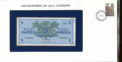 "Finland ~ 1963 ~ 5 Marka Note ~ ""banknotes Of All Nations"""