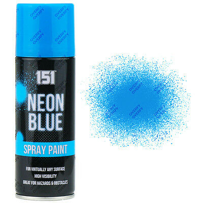 1 x Fluorescent Neon Blue Aerosol Spray Paint DIY 200ml Auto Car 151 Quality