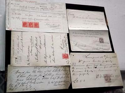 Gb-Liverpool-Old Revenue Docs+Stamps-1847 On-Bank Of Liverpool Etc+1840 Front
