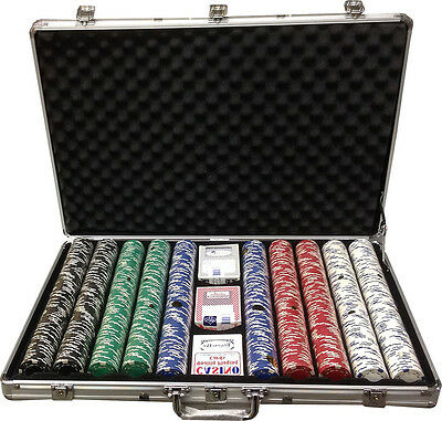 1000 Clay 11.5gr Ace/Jack Poker Chips Custom Set  Choose Color Combination *