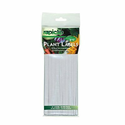"""Luster Leaf 840 Rapiclip 6"""" Outdoor Garden Yard Seed Plant Flower Labels 50-Pack"""