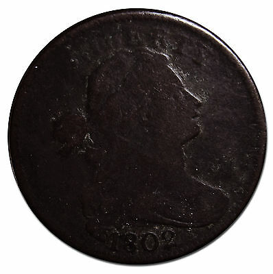 1802 Draped Bust Large Cent Scarce Coin Lot# MZ 3064