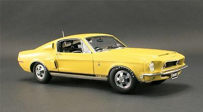 1968 Ford Mustang Shelby Gt 350 Yellow Acme Diecast Car Wt 6066 Gmp 1:18 Vintage
