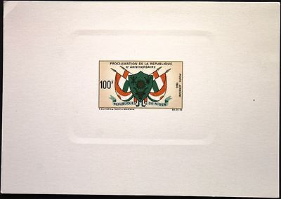 NIGER 1968 205 C99 DELUXE Coat of Arms Flags Wappen & Flaggen Staatswappen MNH