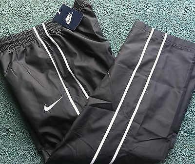 NWT Nike Boys XL Black/White Jersey Lined Slippery Wind Pants Youth XL