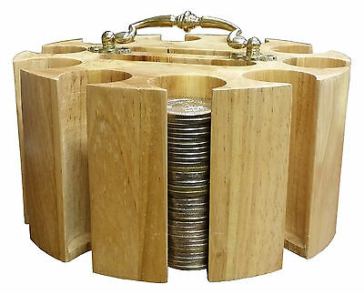 Casino Token Rotating CAROUSEL with HANDLE & 2 DECK CARD SLOTS - FREE SHIPPING *