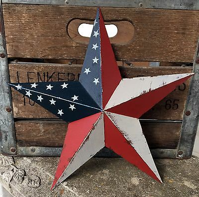 Primitive Metal Barn Star Americana 12 inch Country Rustic Farm Decor