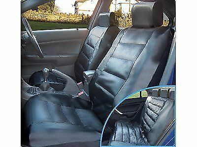 Black Leather Look Full Car Seat Cover set for PEUGEOT 206CC SC8