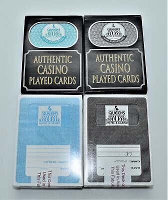Casino Playing Cards - Four Queens Hotel Las Vegas 2 Used Decks - Free Shipping*
