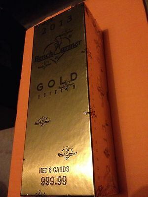 2013 Benchwarmer Gold Edition Factory Sealed Box: 7+ Hits -Auto/hair/kiss/swatch