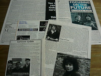 Survivors (Terry Nation) -  Magazine Cuttings Collection (Ref Aab1)