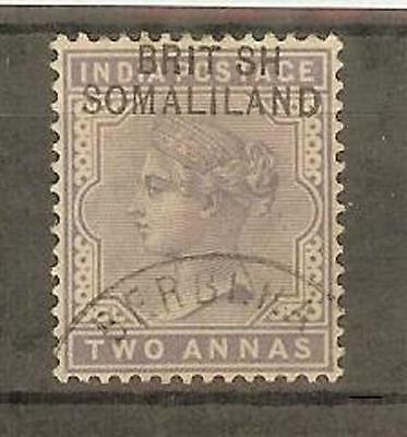 SOMALILAND SG3a 1903 2a BRIT SH VAR USED WITH CERTIFICATE