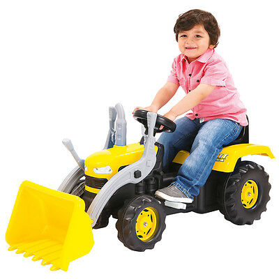 Dolu Kid's Children Ride On Yellow Digger With Shovel Loader