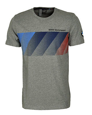 Puma BMW MSP Motorsport M3 Graphic T-Shirt Tee M L XL grau Team Wear Herren