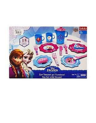 Disney Frozen Childrens Elsa & Anna Small 15 pieces Tea Set Xmas Gift Official