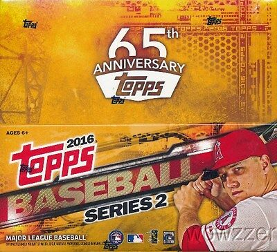 2016 Topps Series 2 Baseball MASSIVE Factory Sealed 24 Pack Retail Box-288 Cards