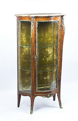 Antique Kingwood Louis Revival Display Cabinet Vitrine c1880