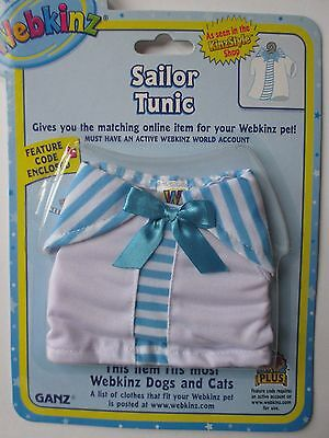 w Sailor Tunic top fits most WEBKINZ cat dog pet CLOTHING new with code