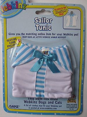 x Sailor Tunic top fits most WEBKINZ cat dog pet CLOTHING new with code
