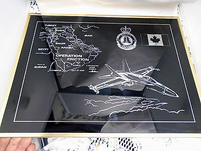 Framed Operation Friction 409th Squadron Laser Print RCAF CF-18 Baden Germany