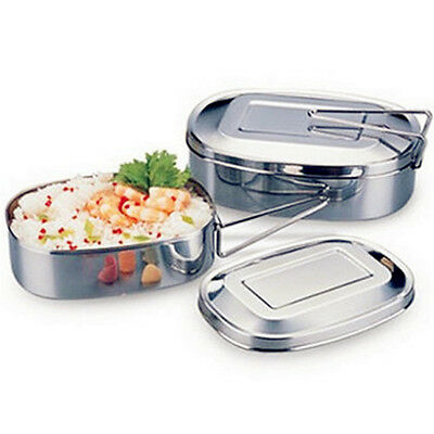 JM Square Stainless Steel Single Layer Student Student Tableware Lunch Bento Box