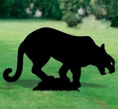 "*NEW* Handmade Lawn Art Yard Shadow Silhouette - Mountain Lion Cougar 29"" x 50"""