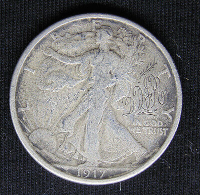 "1917 Walking Liberty Half Dollar Love Token Initials ""ddr"" Silver Coin"