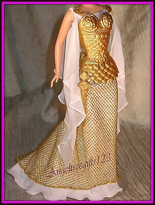 Princess of the Vikings dress gown fits model muse silk stone royalty Barbie ***