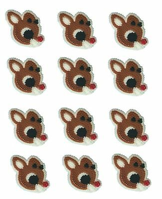 Rudolph Reindeer Christmas Icing Decorations 12 ct.  from Wilton #5819 - NEW