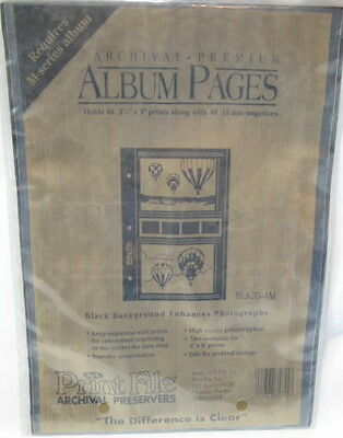 Black Archival Album Pages Lot of 4 Packages 25 Pages Per Package = 100 pages