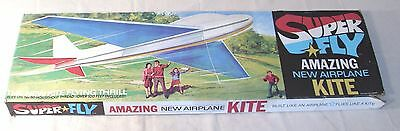 SUPER FLY AMAZING NEW TOY GIANT AIRPLANE KITE 1970s BOXED
