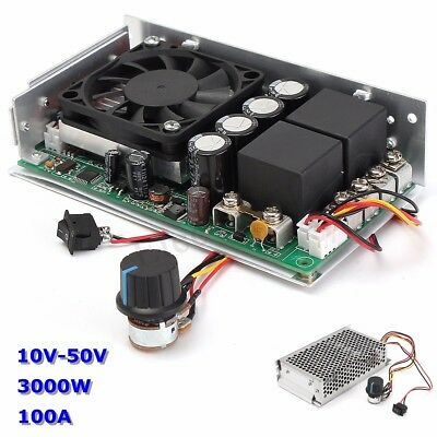 10-50V 100A 3000W Programable Reversible DC Motor PWM Control Speed Controller