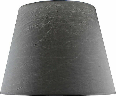 Slate Grey Fabric Tapered Shade Large (Width 48cm x Height 36cm)
