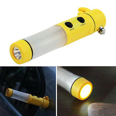 Portable 4 in 1 Multi-functional Flashlight Car Emergency Rescue Tool Kit OP