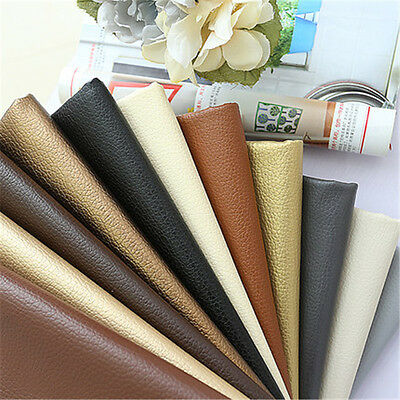 50x140cm PU Leather Litchi Grain Style Fabric DIY Home Deco Table Cover Bag 92 G