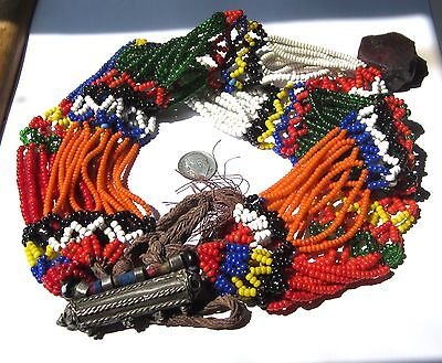 """36"""" Necklace Of Gorgeous Old Mixed Tiny/Small Venetian Beads African Trade"""