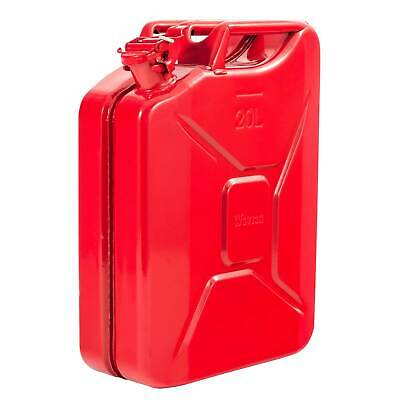 Red Jerry Metal Tin Can 20 L Rust Proof Race/Rally/Camping/Military Fuel/Water
