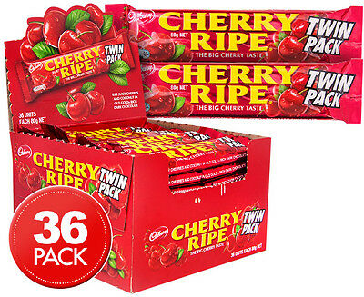 36 x Cadbury Cherry Ripe Twin Bars 80g
