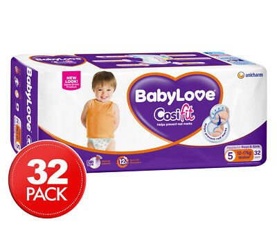 BabyLove Walker Cosifit Nappies 12-17kg 32pk