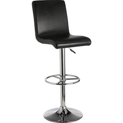 Turner Black Leather Effect Seated Bar Stool - Free 90 Day Guarantee