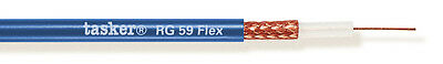 Tasker RG 59 Flex BLU Coaxial cable 75Ohm, 1x0,22 mm2 100 m UK